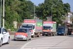Dân Thái Nguyên mang ô tô diễu hành phản đối ở trạm thu phí