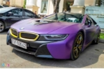 BMW i8 độ màu tím lạ mắt tại Sài Gòn