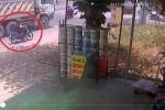 Video: Cố vượt xe ben, nam sinh cấp 3 bị cán qua người