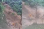 Lũ quét tuôn xối xả như thác, chắn ngang đường ở Hà Giang