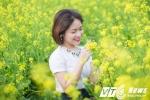 Ảnh: Thiếu nữ khoe sắc giữa cánh đồng hoa cải ở quê lúa Thái Bình