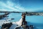 Ảnh cưới lãng mạn đẹp mê hồn bên sông băng của đôi trẻ Canada