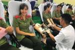 Sinh viên Học viên An ninh hào hứng tham gia hiến máu cứu người