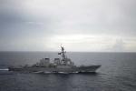 Tàu khu trục Mỹ tuần tra gần quần đảo Hoàng Sa