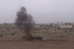 Xem quân đội Nga điều khiển robot hạng nặng kích nổ hàng loạt mìn ở Syria