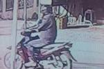 Camera của dân chụp được hình giống nghi phạm cướp ngân hàng ở Trà Vinh