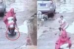 Người phụ nữ cán qua bé trai rồi rồ ga bỏ chạy khiến dân mạng phẫn nộ