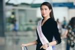Á hậu Lệ Hằng được CNN phỏng vấn khi vừa đặt chân đến Philippines