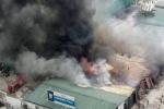 Toàn cảnh vụ cháy lớn khu nhà xưởng trên đường Phạm Hùng