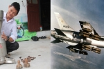 Bộ phận lọc gió của 'thần sấm' F-105 tại nhà một cựu chiến binh ở Hà Tĩnh
