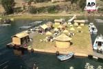 Ngôi làng rơm lênh đênh trên hồ nước cao nhất thế giới