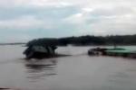 Sà lan nghìn tấn đâm thuyền mủng, cụ bà 78 tuổi mất tích