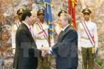 Chủ tịch nước Trần Đại Quang hội đàm với Chủ tịch Cuba Raul Castro