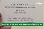 Chàng trai cao 2 mét làm danh thiếp in chiều cao để đỡ bị hỏi nhiều