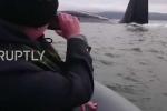 Ngư dân sốc nặng khi thấy tàu ngầm hạt nhân trồi lên cạnh thuyền