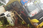 20 hành khách bị lật xe thoát chết kỳ diệu