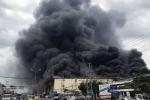 Cháy lớn trong khu công nghiệp ở Cần Thơ: Nhiều chiến sĩ cứu hỏa bị thương