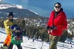 Hà Kiều Anh khoe ảnh hạnh phúc cùng các con trượt tuyết ở Mỹ