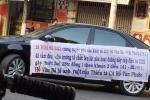 Tạm giữ nữ tài xế lái ôtô bêu tên cán bộ phường diễu khắp phố