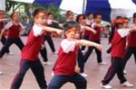 Xem học sinh Hà Thành biểu diễn võ thuật đẹp mắt