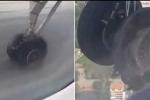 Lốp máy bay phát nổ, rách tả tơi khi đang cất cánh