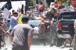 Video: Xe điên lao vào đám đông người biểu tình ở Mỹ