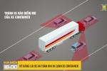 Kỹ năng lái xe an toàn khi đi cạnh container
