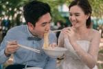 Ảnh cưới của cặp đôi Thái Lan mê... ăn uống gây 'sốt'