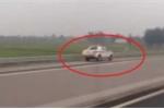 Xe CSGT chạy ngược chiều trên cao tốc Hà Nội - Hải Phòng: CSGT lên tiếng