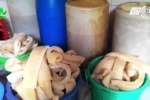 Clip: Bắt giữ 750kg bì lợn thối đang phân hủy suýt thành nem chua ở Hà Nam