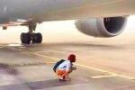 Đôi vợ chồng Trung Quốc đấm gục bảo vệ, xuống đường băng chặn máy bay