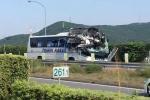 Video: Ô tô đâm trực diện đầu xe buýt làm 46 người thương vong