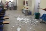 Đi khám ở bệnh viện Nhi Trung ương, 2 mẹ con bị vữa rơi trúng đầu