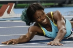Nữ vận động viên bay người về đích, giành huy chương vàng Olympic 2016