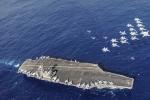 Cận cảnh siêu hàng không mẫu hạm mang 90 máy bay của Mỹ tới gần Triều Tiên