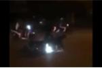 Gây tai nạn rồi bỏ chạy, xe Kia Morning ép ngã 2 cảnh sát cơ động