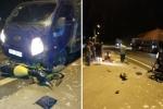 Xe tải vượt ẩu tông trực diện xe máy, 2 người thương vong
