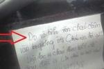'Nóng' bức hình lời xin lỗi trên kính xe ôtô của nam sinh ở Hải Phòng