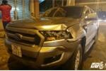 Ô tô 'điên' tông 5 xe máy ở Sài Gòn, 4 người nhập viện