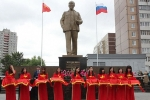 Khánh thành tượng Chủ tịch Hồ Chí Minh trên quê hương Lenin