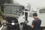 Xe chở phạm nhân tông xe bồn, 6 người thương vong