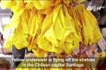 Năm mới cận kề, đồ lót màu vàng cháy hàng ở Nam Mỹ