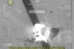 Clip xe tải của IS bị dội tên lửa nổ tan tành khi đang chạy trốn