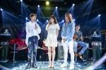 Hinh anh Hari Won song ca voi Tran Thanh trong buoi hop fan dau tien