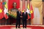 Chủ tịch nước Trần Đại Quang đón và hội đàm với Tổng thống Myanmar