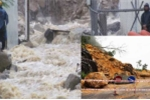 Nước lũ đổ như thác trên nhiều tuyến phố Nha Trang