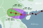 Tâm bão số 3 đổi hướng, đang trên đất liền Hải Phòng - Thái Bình
