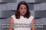 Cô gái bại não công kích Donald Trump tại đại hội đảng Dân chủ