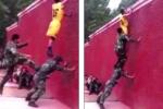 Video: Thán phục kỹ năng vượt tường 4 m chỉ trong 7 giây của lính cứu hỏa