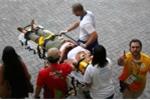 Olympic Rio 2016: Camera tuột cáp, rơi xuống đầu cổ động viên